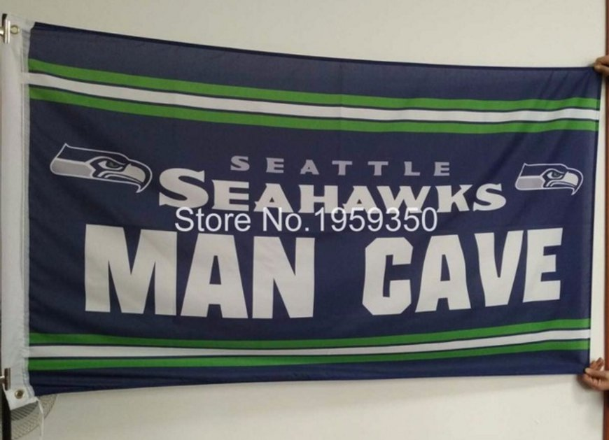 Seattle Seahawks Man Cave Flag 3ft x 5ft Polyester Banner flag