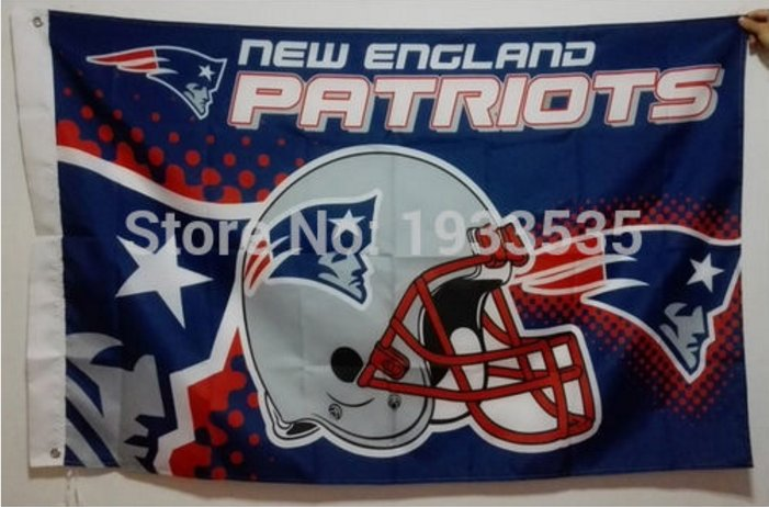 New England Patriots Helmet Flying Flag Banner flag 3ft x 5ft 100D Polyester 90x150cm