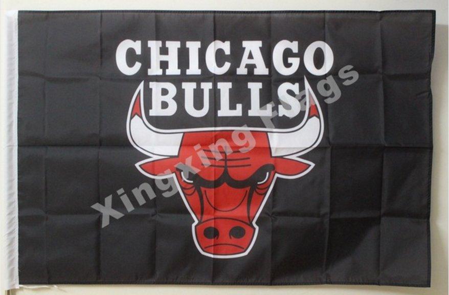Chicago bulls flag 3ft x 5ft polyester flag banner custom flag