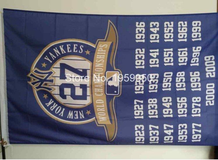 New York Yankees 27 world champions flag MLB 3ftx5ft Banner 100D Polyester
