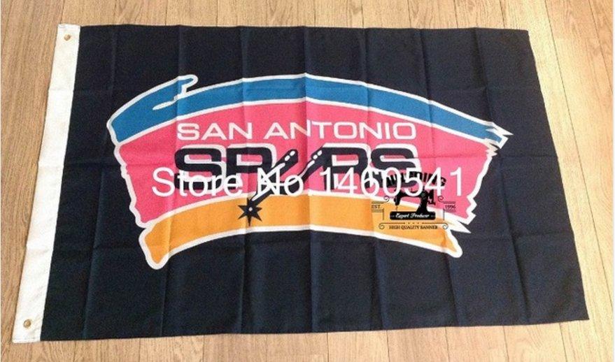 The SAN Antonio spurs flag 3FTx5FT 150X90CM Banner 100D Polyester flag