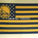 Golden State Warriors 3X5ft Banner 100D Polyester NBA Flag metal Grommets 90x150cm