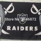 Oakland Raiders flag 3ftx5ft Banner 100D Polyester Flag