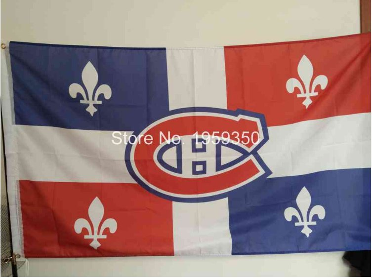 Montreal Canadiens Flag NHL National Hockey League 3ft x 5ft Polyester Banner 90cm Custom flag