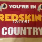 Washington Redskins you're in country Flag 3ft x 5ft Polyester Banner 90x150cm