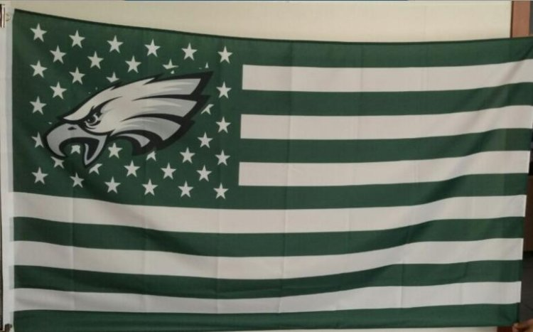 Philadelphia Eagles dark green Flag with Star and Stripe 3ftx5ft Banner 100D Polyester Flag