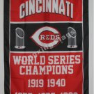 Cincinnati Reds World Series Champions Flag 3ft x 5ft Polyester MLB flag