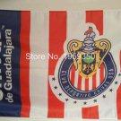 Chivas Guadalajara flag 2016 3ftx5ft 100D Polyester Flag metal Grommets 90x150cm
