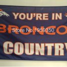 Denver Broncos Flag 3ftx5ft Banner 100D Polyester flag 90x150cm