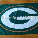 Green bay packers logo flag 3ftx5ft Banner 100D Polyester Flag