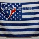 Houston Texans logo with stars and stripes Flag 3FTx5FT Banner 100D Polyester flag 90x150cm