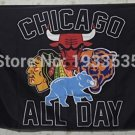 ALL DAY Chicago logo 3FTx5FT Banner 100D Polyester Flag