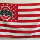 Ohio State Buckeyes With Modified US Flag 3ft x 5ft Polyester NCAA