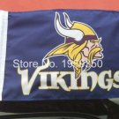Minnesota Vikings logo car flag 12x18 inches double sided 100D Polyester NFL