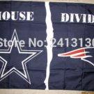 Dallas Cowboys vs New England Patriots House Divided Rivalry Flag 90x150cm