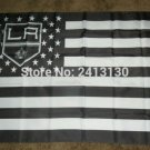 Los Angeles Kings Stripe flag 3ftx5ft Banner 100D Polyester NHL Flag