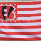 Cincinnati Bengals with US stars and stripes Flag 3FTx5FT Banner 100D Polyester flag style 2