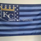 Kansas City Royals Flag 3ft x 5ft Polyester MLB Banner Flying with stars and stripes