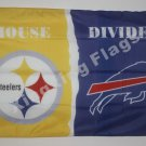 Pittsburgh Steelers vs Buffalo Bills House Divided Rivalry Flag 90x150cm metal grommets