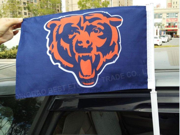 custom NFL car flag of Chicago Bears