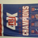 New York Giants Super Bowl Champions 4X Flag 3ft x 5ft Polyester NFL flag