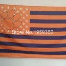 Clemson Tigers Nation Flag 3ft x 5ft Polyester NCAA Banner Flying Custom flag 90x150cm