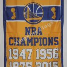 Golden State Warriors World Champions Flag 3ft x 5ft Polyester NBA Banner flag 90x150cm