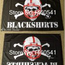 Nebraska Cornhuskers Blackshirts 3ftx5ft Banner 100D Polyester NCAA Flag metal grommets