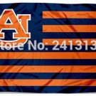 Auburn Tigers With Modified US Flag 3ft x 5ft Polyester NCAA Banner Flying Custom flag 90x150cm