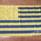Michigan Wolverines logo with starts and stripes Flag 3ft x 5ft Polyester 90x150cm style 2
