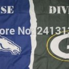 Denver Broncos vs Green Bay Packers House Divided Rivalry Flag 90x150cm