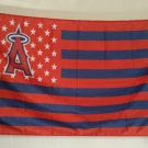 Los Angeles Angels logo with starts and stripes Flag 3ft x 5ft Polyester MLB Banner