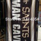 New Orleans Saints man cave flag 3ftx5ft Banner 100D Polyester Flag metal Grommets