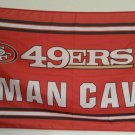 San Francisco 49ers man cave flag 3ftx5ft Banner 100D Polyester Flag metal Grommets