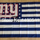 New York Giants with modified US Flag 3ft x 5ft Polyester Banner 90x150cm