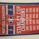 Montreal Canadiens Stanley Cup Champions Flag 3ft x 5ft Polyester NHL flag
