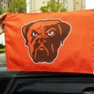 Double sided Cleveland Browns car flag 12x18 inches 100D Polyester NFL with flag