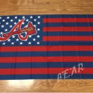 Atlanta Braves with starts and stripes 3ftx5ft Banner 100D Polyester Flag