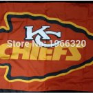 Kansas City Chiefs Flag 3ft x 5ft Polyester Banner flag 2 metal Grommets 90x150cm