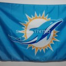 Miami Dolphins NFL car flag 12x18inches 30x45cm double sided 100D Polyester