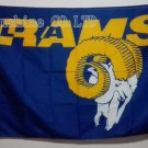 Los Angeles Rams logo with head flag 3FTx5FT Banner 100D Polyester 90x150cm Flag