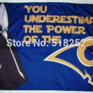 Los Angeles Rams star wars flag 3ftx5ft Banner 100D Polyester Flag metal Grommets