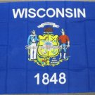 Wisconsin State Flag US State Banner New 3x5ft 150x90cm Polyester