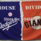 Los Angeles Dodgers vs San Francisco Giants house divided Flag 3ft x 5ft