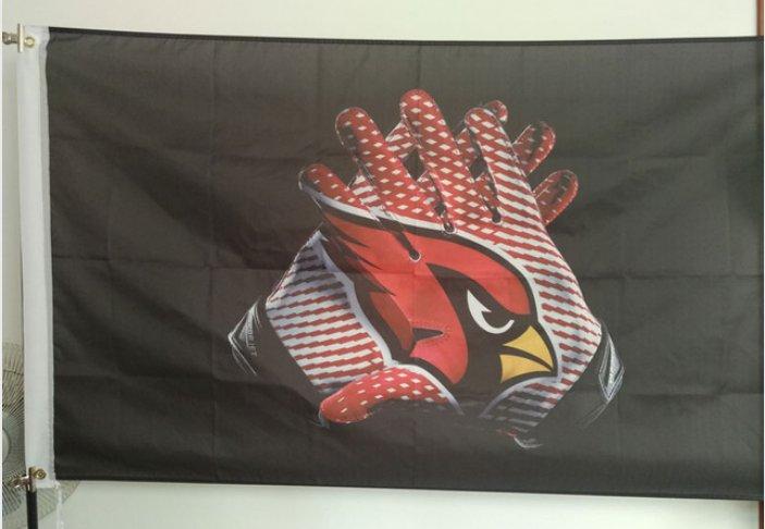 Arizona Cardinals 2 Gloves 3x5 ft flag 100D Polyester flag 90x150cm