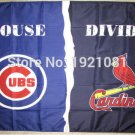 Chicago Cub vs St Louis Cardinals House Divided Rivalry Flag 90x150cm