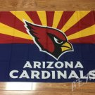 Arizona Cardinals logo car flag 12x18inches double sided 100D Polyester NFL
