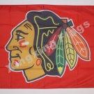 Chicagyo Blackhawks Flag 3ftx5ft Banner 100D Polyester NHL Flag style 1