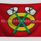 Chicago Blackhawks Flag 3ftx5ft Banner 100D Polyester NHL Flag style 2