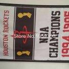 Houston Rockets World Champions Flag 3ft x 5ft Polyester NBA Banner Custom flag